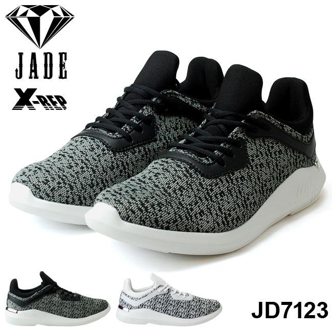 ジェイド スパークル JD7123 メンズスニーカー JADE SPARKLE JD7123 X-REP ブラック ホワイト ダンス 靴 3E マドラス (1803)