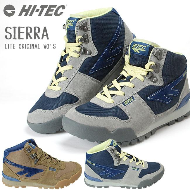 HI-TEC (ハイテック) レディース トレッキングシューズ SIERRA LITE ORIGINAL 登山 軽量 シエラライト