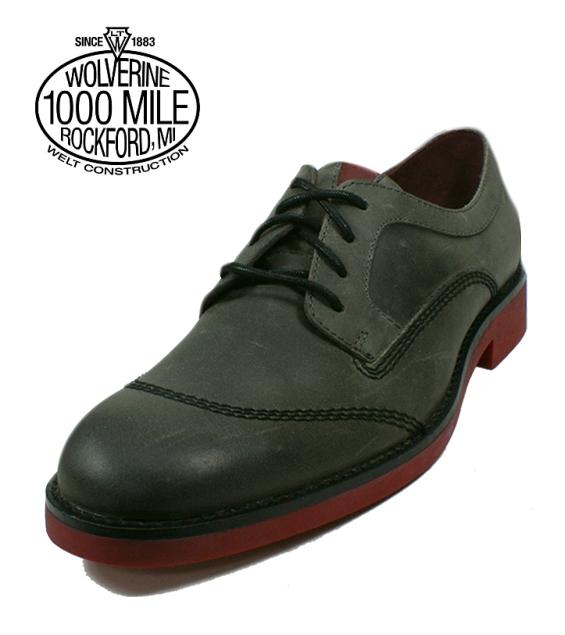 save off 88afe e57fb Wolverine Wolverine boots Boots WOLVERINE PRESTON red sole Oxford REDSOLE  W05396 grey BOOTS genuine store
