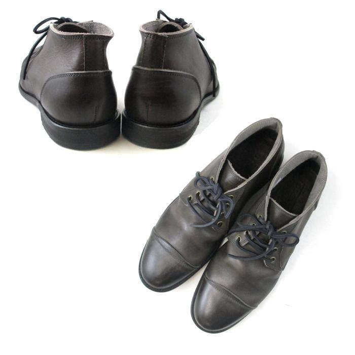 アルジス ブーツ ARGIS チャッカブーツ メンズ 12103 〔GRAY〕 レースアップブーツ カジュアル 靴 men's boots 送料無料 本革 日本製 コンビニ受取対応dxQBeWrCo