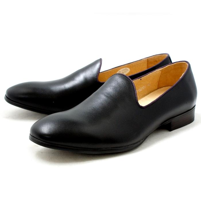 ●● RAUDI ラウディ 靴 カジュアル オペラパンプ ヴァンプ R52107 〔ブラック〕 メンズ 男性用 靴 men's 2015SS 【コンビニ受取対応】