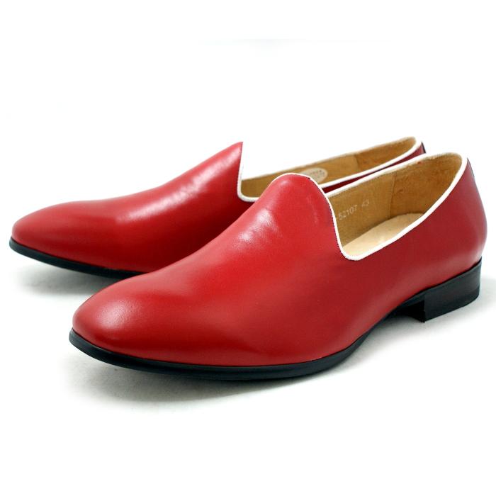 ●● RAUDI ラウディ 靴 カジュアル オペラパンプ ヴァンプ R52107 〔レッド〕 メンズ 男性用 靴 men's 2015SS 【コンビニ受取対応】