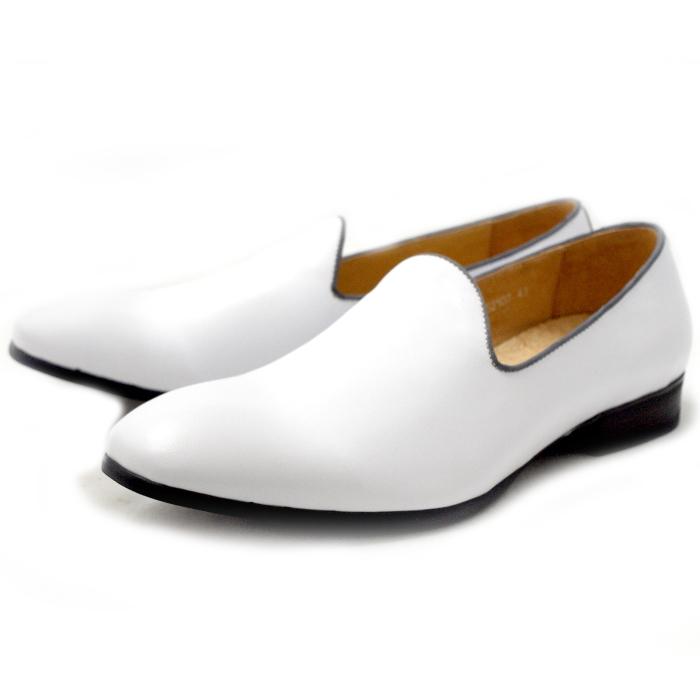 ●● RAUDI ラウディ 靴 カジュアル オペラパンプ ヴァンプ R52107 〔ホワイト〕 メンズ 男性用 靴 men's 2015SS 【コンビニ受取対応】