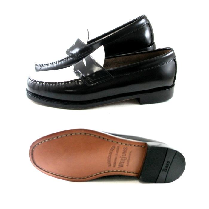公交车便鞋低音便鞋 G.H.BASS 洛根总线无赖黑色 / 白色明智 D WEEJUNS 便士便鞋佩妮无赖男人的皮革鞋男子鞋存储 _ _