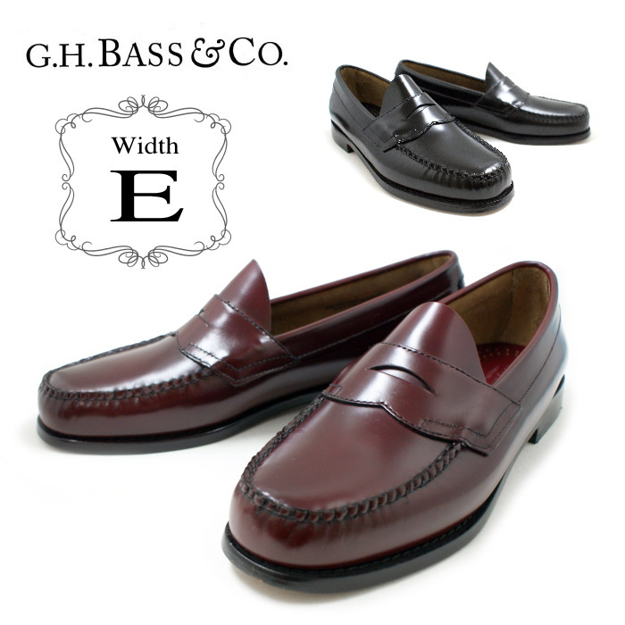 d0b7c8e70d4f0 ●● Bus loafer G.H.BASS LOGAN << E Wise >> men's genuine leather penny  loafer Logan