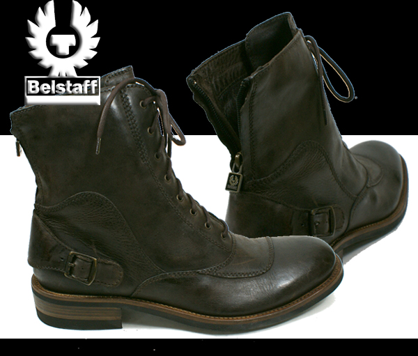 Belstaff [belstaff] StoneMaster (stone master) Black-Brown by car boots rider boots men's boots boots made in italy Italy United Kingdom brand store