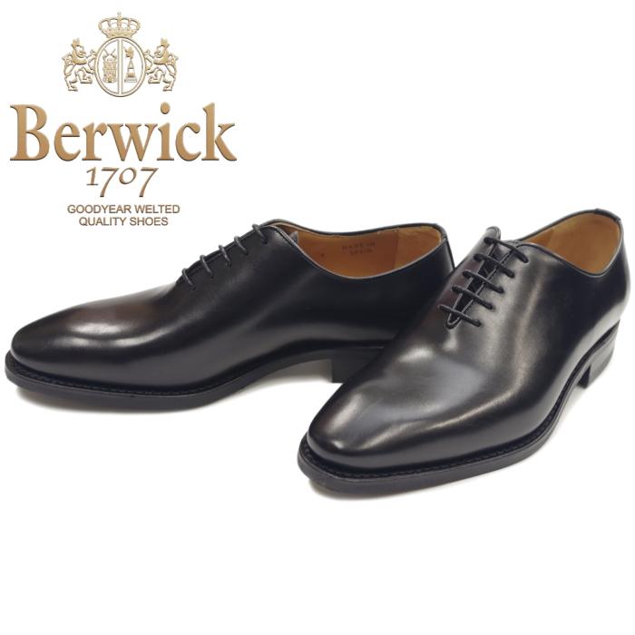 バーウィック 靴 Berwick 1560 ホールカット プレーントゥ ブラック ダイナイト ビジネスシューズ メンズ スペイン製 ブランド 革靴 ビジネス 本革 黒 送料無料【あす楽対応】【コンビニ受取対応】