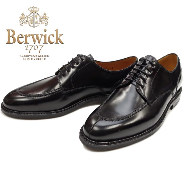 Berwick 靴 バーウィック Uチップシューズ 4558 ブラック ダイナイトソール スペイン製 ビジネスシューズ メンズ 本革 送料無料 【コンビニ受取対応】
