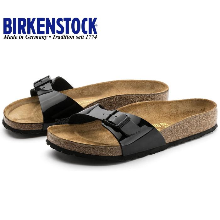 98a5962dab8b Birkenstock women s sandal BIRKENSTOCK MADRID Madrid  Black patent  width  narrow   narrow width genuine birken-stuck for women ladies BIRKEN STOCK  2015 ...