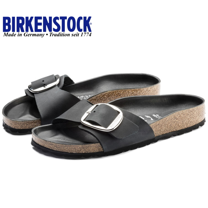 b84463780e8f ビルケンシュトックレディースマドリッド regular article BIRKENSTOCK MADRID BIG BUCKLE leather  1006523  black  sandals width narrow narrow width 2018 spring ...