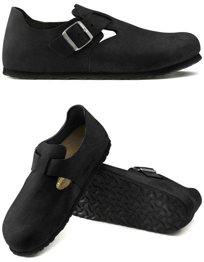 勃肯真正勃肯伦敦 166541 油黑色男装休闲鞋 BIRKEN 股票 2015年秋冬季新