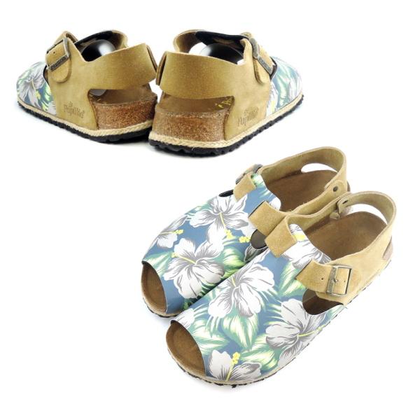 buying now new appearance differently ●● MEN'S BIRKEN STOCK サンダルボタニカル pattern for the papilio sandals Vienna  BIRKENSTOCK ●● VIENNA 171953 (blue / sand) width narrow / narrow width  regular ...