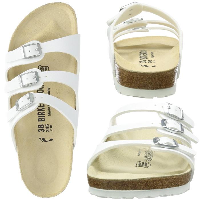 """正版,勃肯佛罗里达州,佛罗里达州勃肯""""窄宽度»,经典的颜色跟凉鞋带凉鞋女式白色 / 黑色 / 棕色 vilken 卡 vilken 鞋店"""