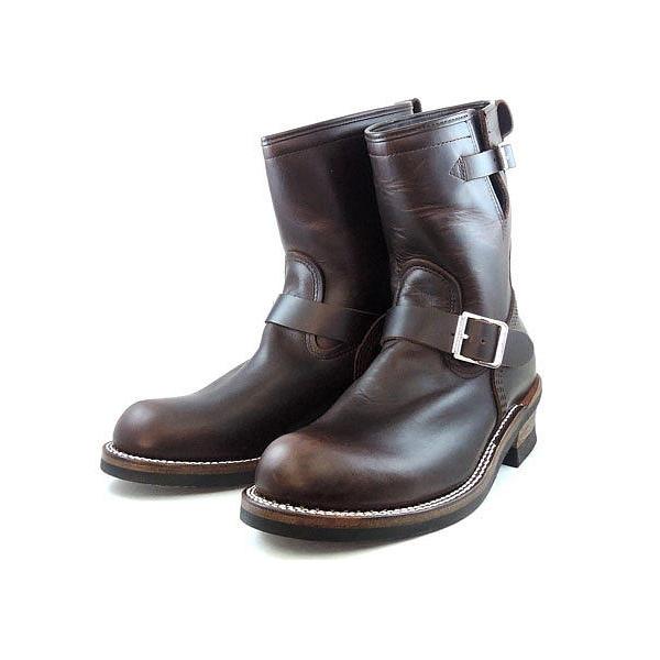 哥哥桥靴子 BROTHERBRIDGE 哈德逊工程师靴 8.5 英寸 (布朗) BBB-a007-# 700 工作引导男装真皮男人的靴子店
