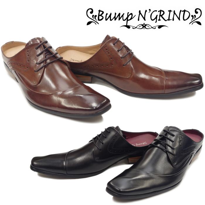Bump N' GRIND バンプアンドグラインド BG 6018 ビジネスシューズ 革靴 ビジネスサンダル メンズ スリッポン ドレス カジュアル かかと無し 送料無料 【コンビニ受取対応】
