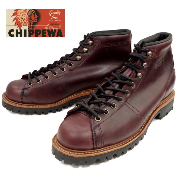 チペワ ブーツ CHIPPEWA 1901G40 5-inch lace-to-toe field boots [Cordovan] フィールドブーツ Vibram ビブラム 正規品 保証書付 メンズ ワークブーツ アメリカ製 送料無料 【コンビニ受取対応】