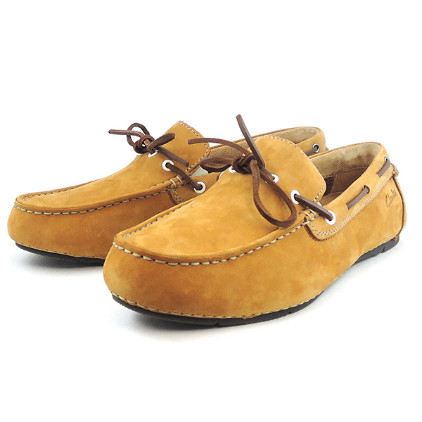 Moccasin mens leather leather Clarks Clarks Marcos Edge Markos edge 088 E  Brown men's shoes men's moccasin store