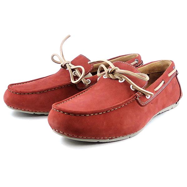 莫卡辛男装真皮皮革 Clarks 克拉克斯 Marcos 边缘 Marcos 边缘 [088 E,红色男式鞋男子莫卡辛店