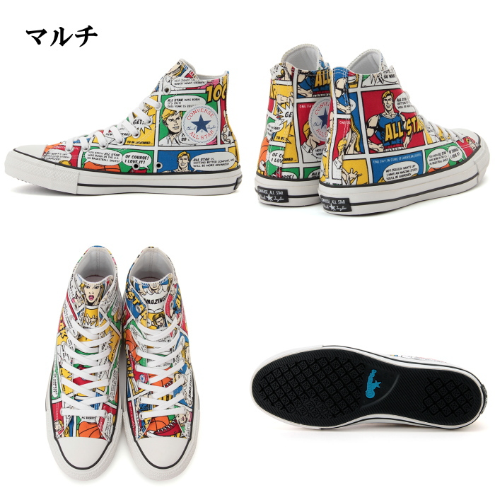 6e6934f2dc18d1 Model CONVERSE ALL STAR 100 AMERICANCOMIC HI all-stars American comics  higher frequency elimination sneakers men candy Komi 2017 new work of the  100th ...