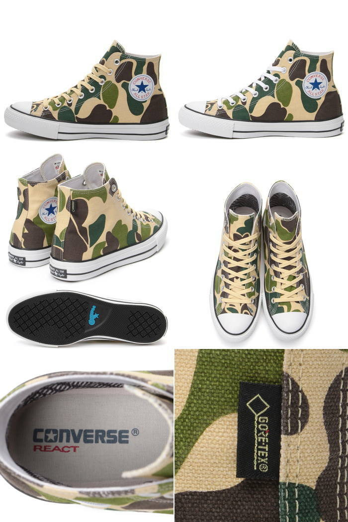 8e0d858d8a32 Model CONVERSE ALL STAR 100 GORE-TEX PT HI all-stars Gore-Tex perfection  waterproofing camouflage camouflage pattern 83 duck higher frequency  elimination ...