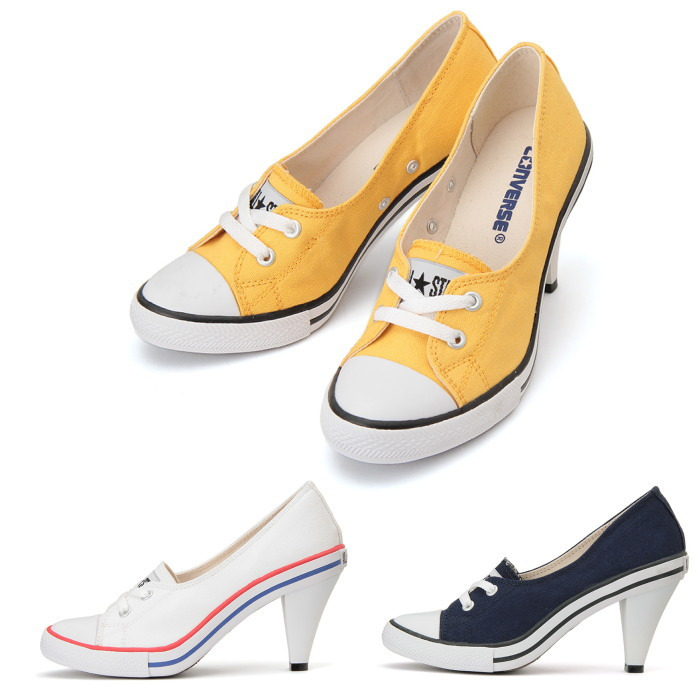 ●● Converse all stars regular article CONVERSE ALL STAR PUMPYHEEL OX sneakers pumps Lady's bread P heel