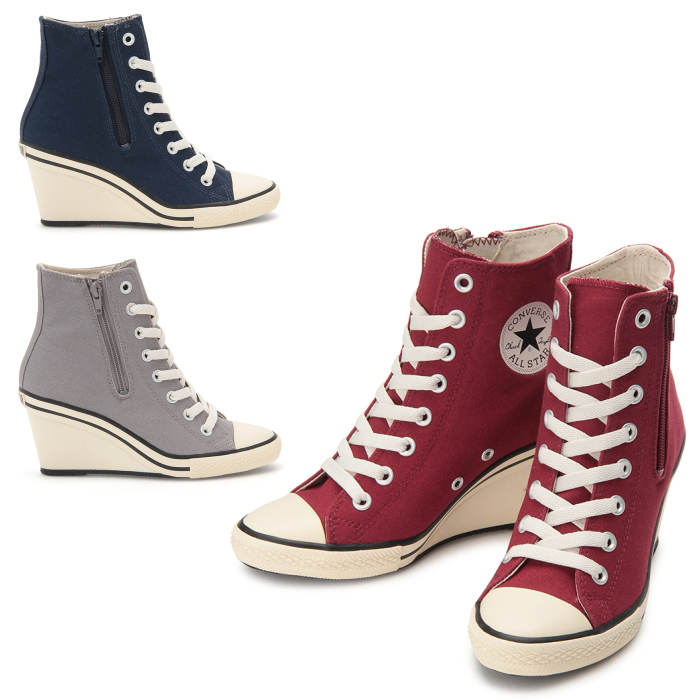 75b7303a306f Converse genuine CONVERSE ALL STAR WEDGE Z HI all-star high-cut wedge  sneakers Womens Chuck side zipper canvas 2016 winter new