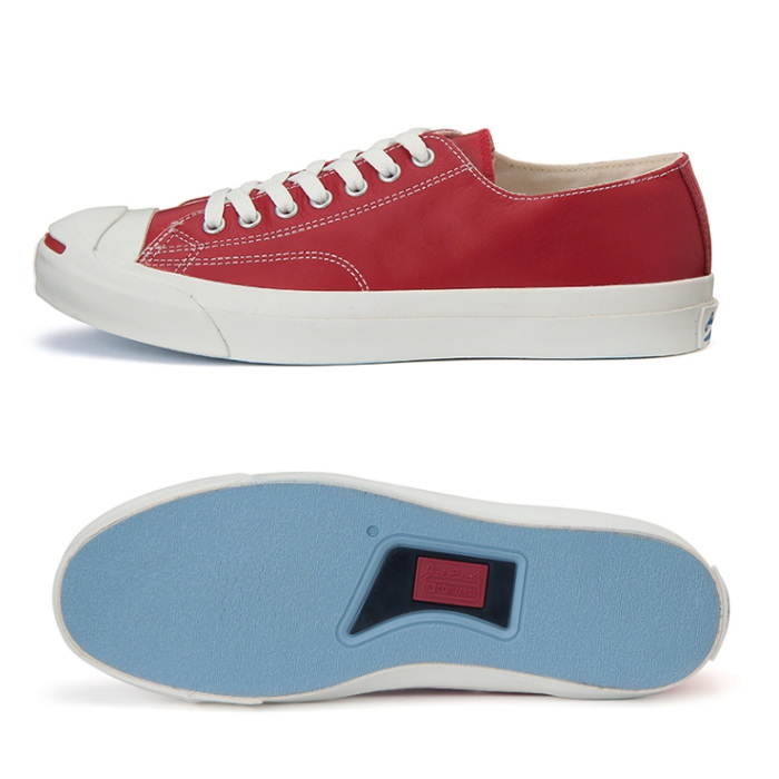 7748ef534ae8c4 Converse Jack Purcell leather CONVERSE LEA JACK PURCELL COLORS N sneakers  men s low-cut  Red