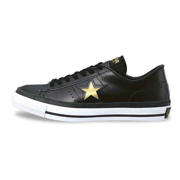 4ebc555b1cdb Black men s sneaker for men sneakers low-frequency cut men made in Converse one  star leather CONVERSE ONE STAR J MT (black   gold) Japan