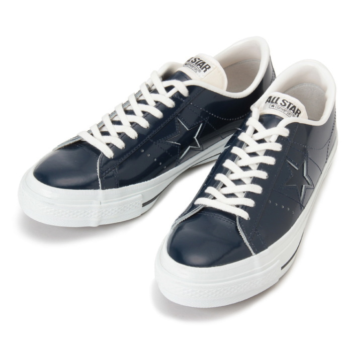 d5c17c77fdfaa0 Converse one star leather CONVERSE ONE STAR J PL  men sneakers low-frequency  cut regular article made in dark navy Japan