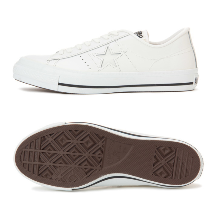 e4d26a37e3d6d8 Men sneakers low-frequency cut regular article made in Converse one star  leather CONVERSE ONE STAR J PL  white  Japan