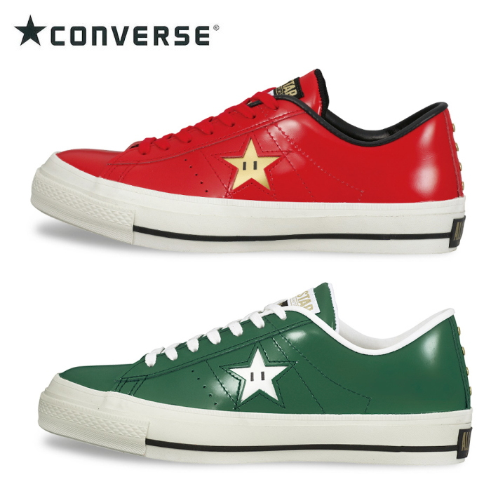 af5527c7a80efb Converse one star Mario CONVERSE SUPER MARIO BROS. Super Mario Bros. made  in Japan men s sneaker low-cut leather men s men s sneaker store 2014 Winter