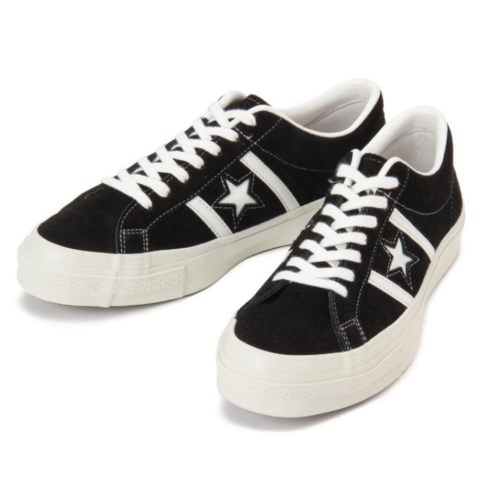 [Black] converse genuine CONVERSE STAR BARS J SUEDE made in Japan men's  sneaker low