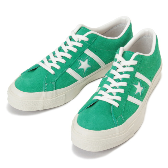 Converse genuine CONVERSE STAR BARS J SUEDE [Green] made in Japan men's  sneaker low