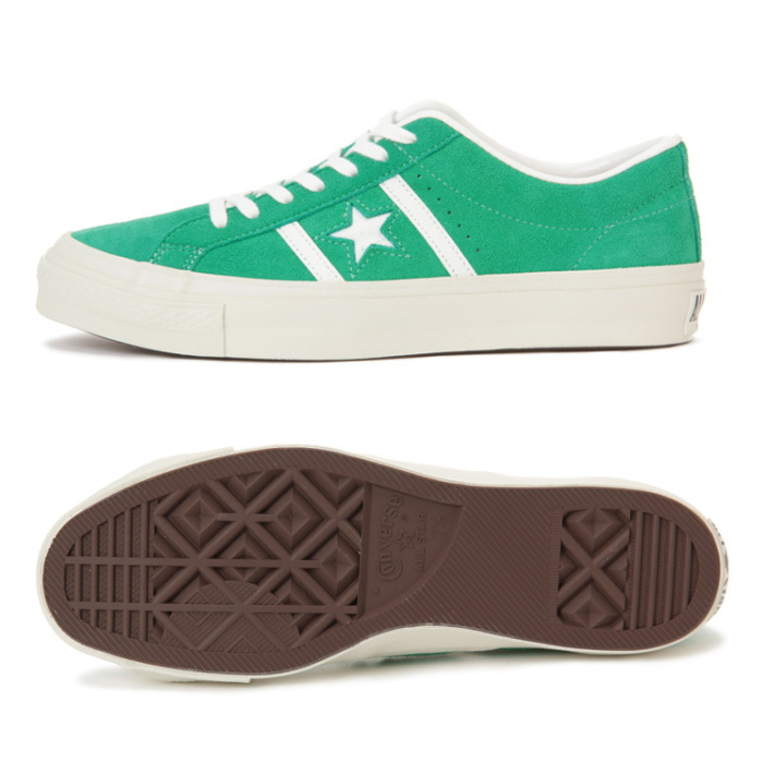 b31cd6124dfcd5 ... ○○ Men sneakers low-frequency cut star   Byrds suede store-limited man  use made in Converse regular article CONVERSE STAR BARS J SUEDE  green   Japan