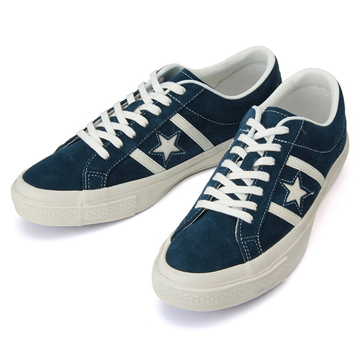 release date 97018 7d6c1 Converse genuine CONVERSE STAR BARS SUEDE  Navy white men sneakers low-cut  star ...