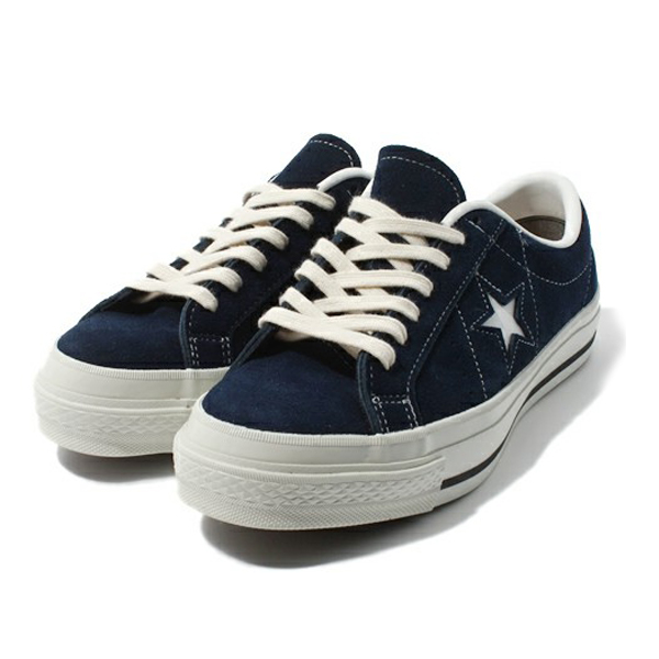 CONVERSE [converse, converse one star J Suede (CONVERSE ONE STER J SUEDE)  Navy Chuck Taylor low cut leather suniikaa sneakers all star OX low-cut  Oxford ...