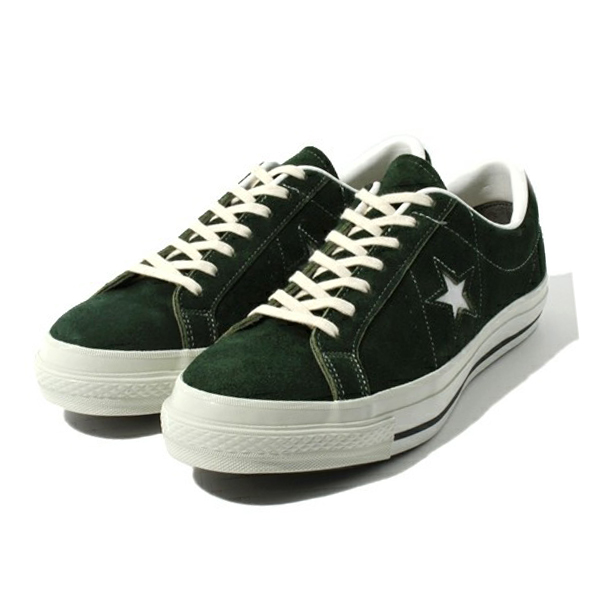 CONVERSE [converse, converse one star J Suede (CONVERSE ONE STER J SUEDE)  Green Chuck Taylor low cut leather suniikaa sneakers all star OX low-cut  Oxford ...