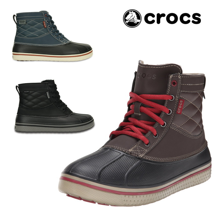 4897e6f04 Crocs BOA boots crocs allcast waterproof duck boot men 16233 Rolex mens  boots winter boots all cast waterproof duck boots