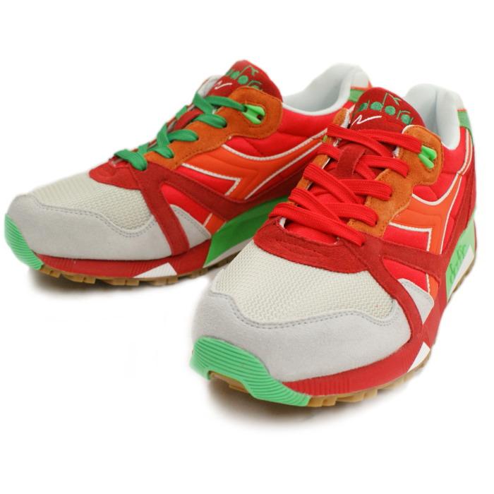 迪尔德丽运动鞋男装鞋 DIADORA N9000NYL160827-C6118 [罂粟红爱尔兰绿]