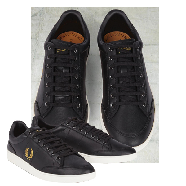 Fred Perry sneakers mens FREDPERRY Hopman Leather B4224 102   BLACK men s  shoes shoes casual black for men men s sneaker store a79406d61c72
