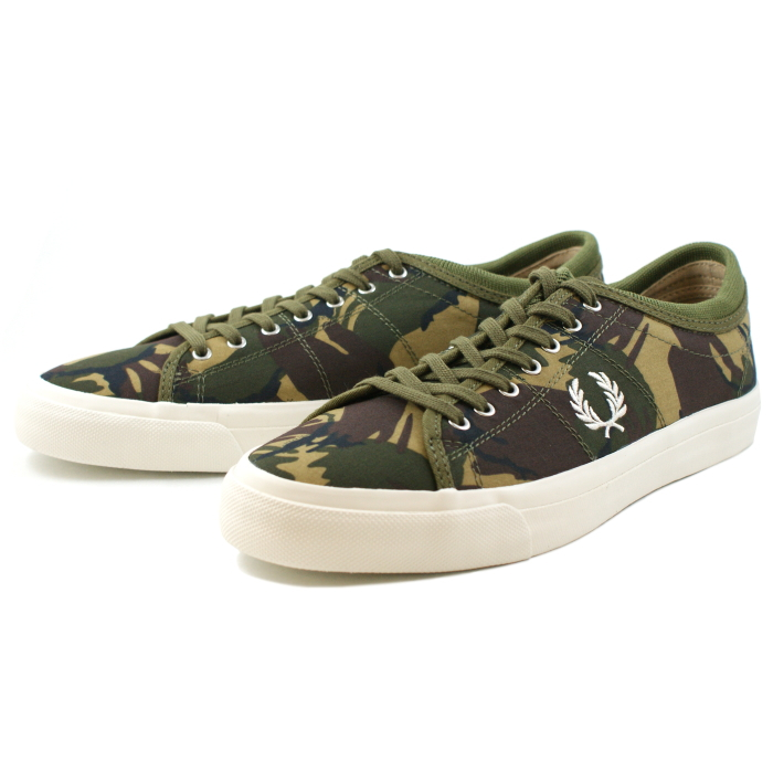 men s sneaker for fred perry sneakers men FREDPERRY KENDRICK TIPPED CUFF  CAMO B5209 B61 BRITISH OLIVE men shoes shoes casual men cd21cb169c