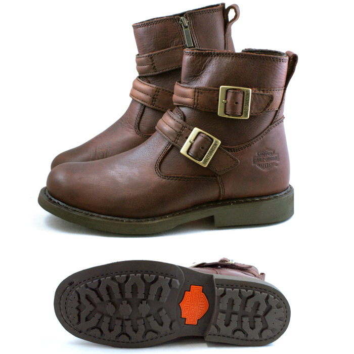 f733106a20e1 ぶーつ men s boots Harley-Davidson for Harley-Davidson boots regular article Harley  Davidson D93163  brown  DENNIS bikie fashion work boots black men men