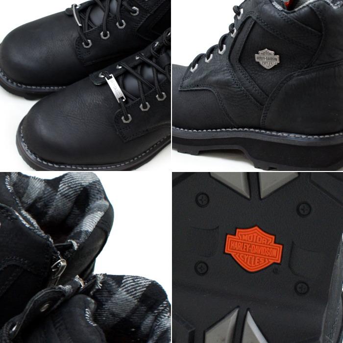 Harley Davidson 靴靴子男式靴子 Harley Davidson 的真正哈雷 ABEL D96040 [黑色] 工作引导人的冬天