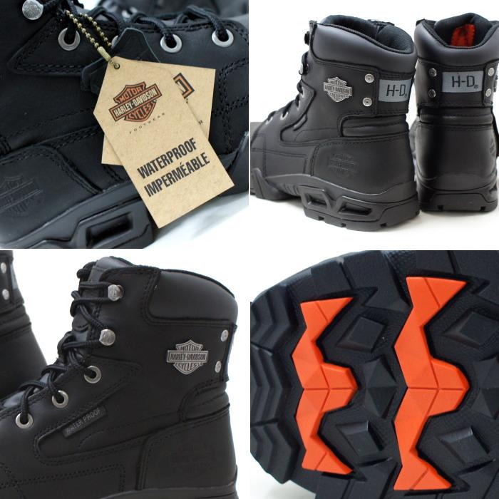 哈雷-男式靴子戴维森哈雷-戴维森真正哈雷安迪 D96066 [黑色] 防水工作启动男式防水冬季皮靴