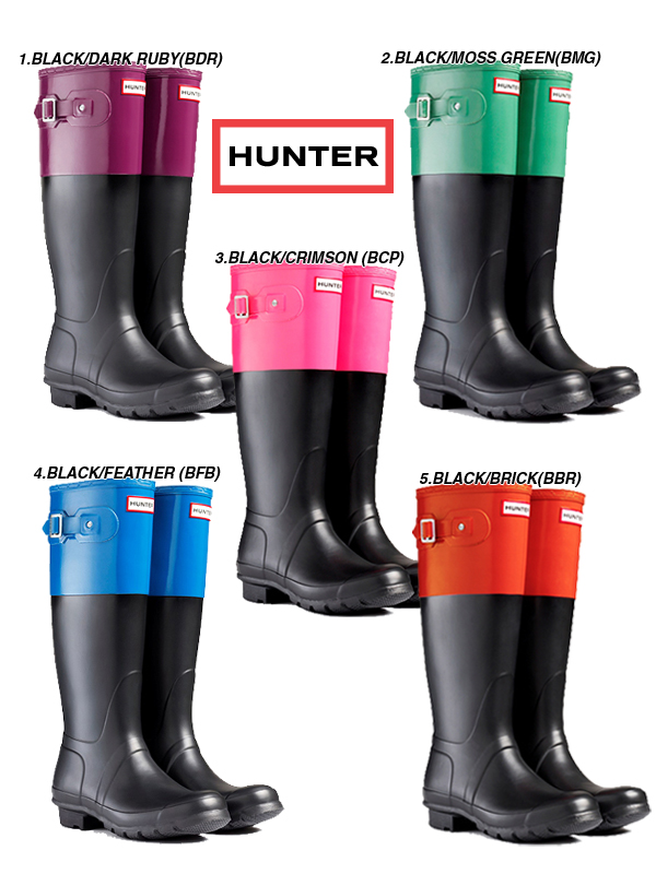 42fffbfc6b8 ●● Order original color block Original Color Block rain boots rubber boots  HUW25229 made of HUNTER [hunter] rubber; day rainy season gardening ...