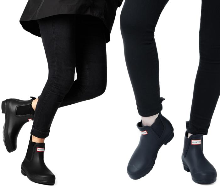 Hunter rain boots women's genuine HUNTER WOMENS ORIGINAL CHELSEA TWO TONE Couleur HWFS1020RTT FW15 Womens original Chelsea to tone