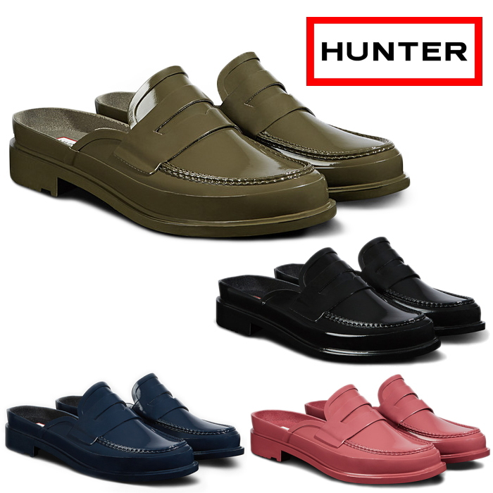 027e308468f HUNTER hunter loafer Lady s pullover boots Womens Original Backless Gloss Penny  Loafer WFF1060RGL original back reply gross penny loafer slip-ons ...