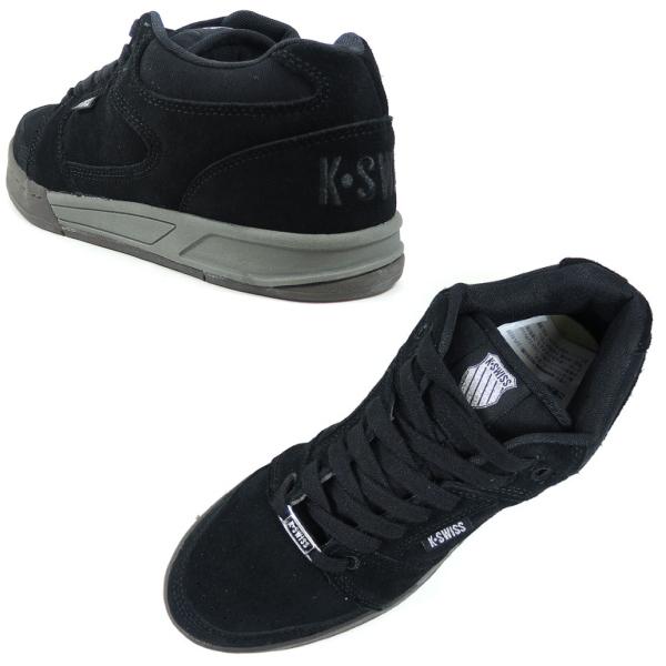 buy popular 6db40 e0028 Swiss sneaker k-Swiss KS SPU58 SLIDE MID [Black/gum] men's suede sneaker  mid cut skate shoes black KSWISS K-SWISS men's sneaker sale cheap