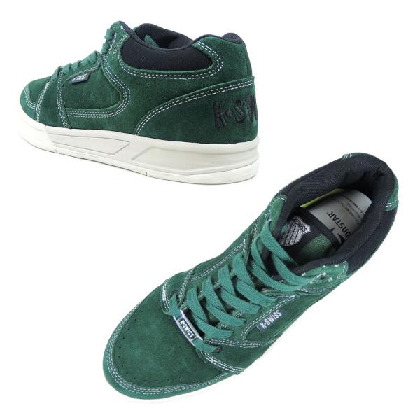 info for dbfdf 4e580 Swiss sneaker k-Swiss KS SPU58 SLIDE MID [Green/Black] men's suede sneaker  mid cut skate shoes green KSWISS K-SWISS men's sneaker sale cheap
