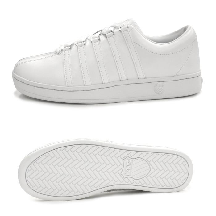 瑞士经典的 k-瑞士运动鞋男装白色 KSWISS K-瑞士经典了经典的白色/白色 (02248101) 运动鞋低切男式运动鞋店。